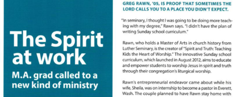 Featured in the Luther Seminary Story Magazine!