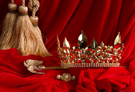 A golden crown and scepter. Christ the King Sunday challenges us to look at to whom we give our allegiance.