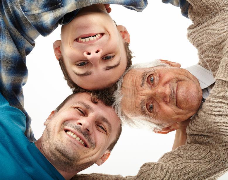Three generations together.