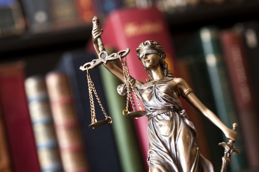 A statue of justice. The servant in Isaiah 42 will establish justice (mishpat).