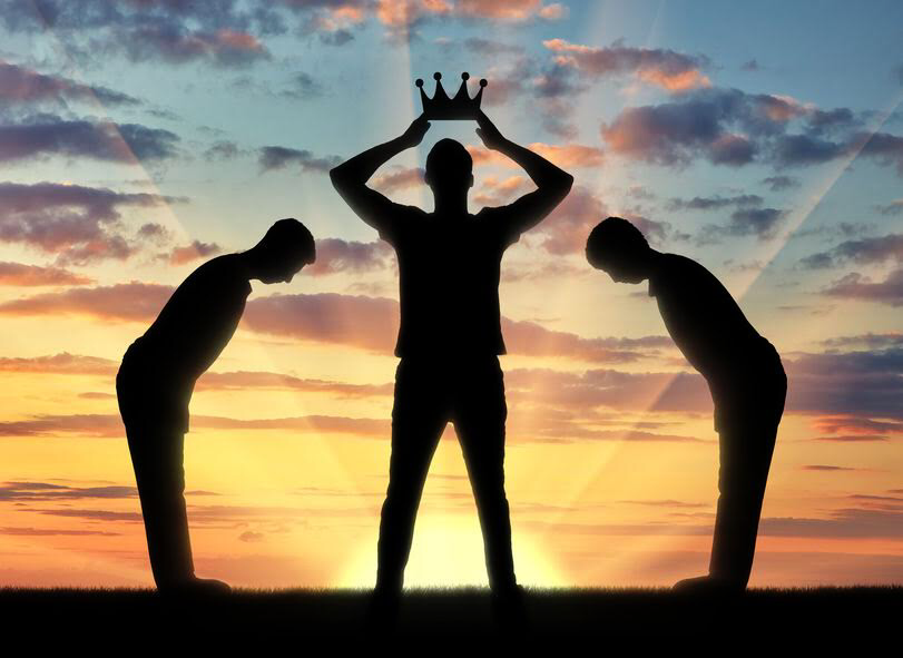 A silhouette of a man holding a crown. With Rehoboam and Jeroboam, history repeats itself.
