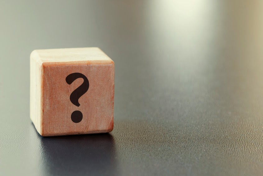 A question mark on a wooden block. What was Abraham's real test?